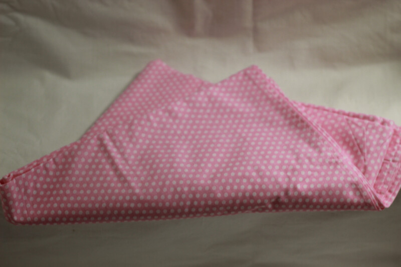 Reusable Cotton Table Cloth Pink/Blue