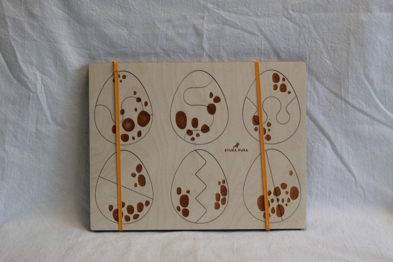 Eggs Wooden Puzzle