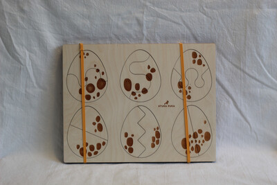 REDUCED TO CLEAR!!!!!Eggs Wooden Puzzle