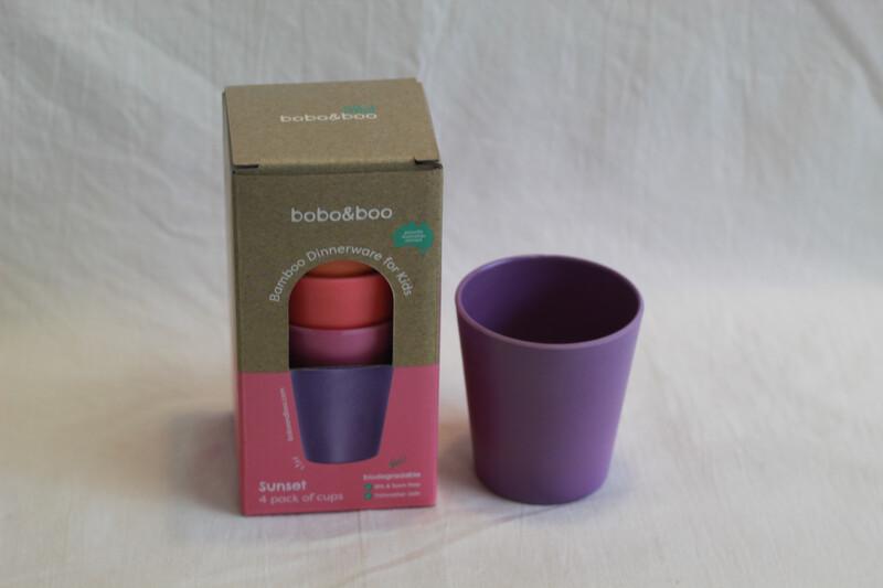 Bobo & Boo 4pk Bamboo Cups Sunset