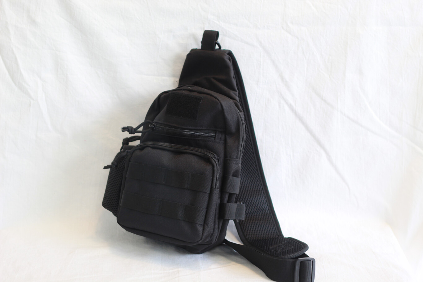 One Shoulder Compartment Backpack Black