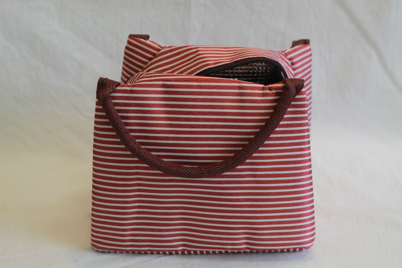 Insulated Lunch Bag Red Stripes