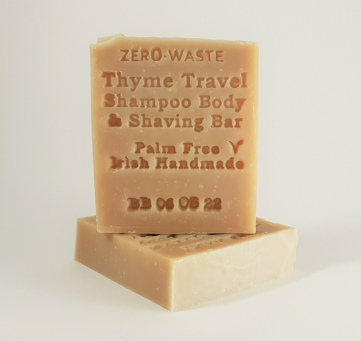Palm Free Irish Thyme Travel Shampoo, Body, Shaving Bar