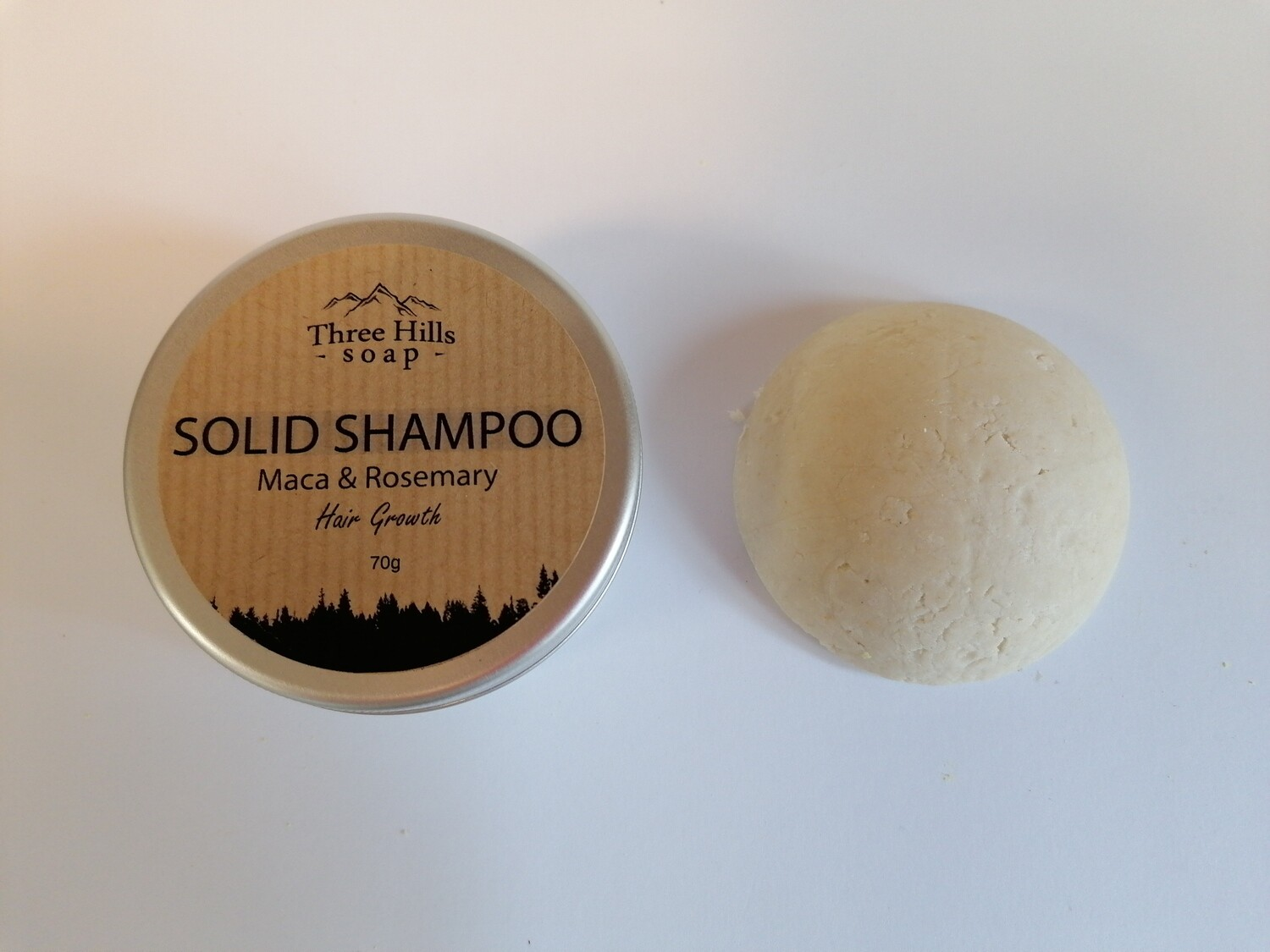 Three Hills Solid Shampoo Bar