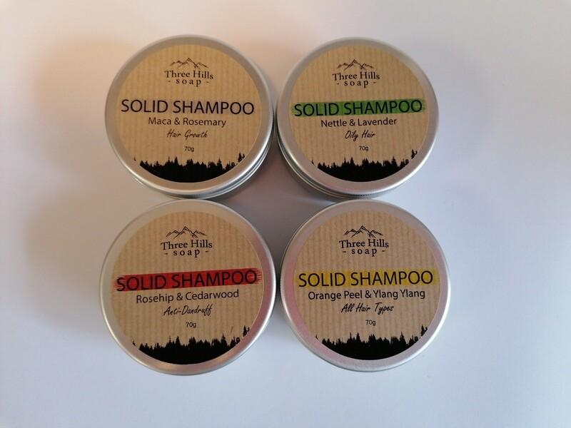 Three Hills Solid Shampoo Bar