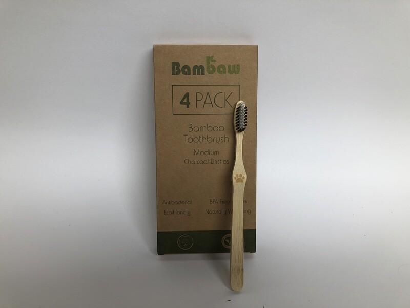 Bambaw 4pk Bamboo Toothbrushes