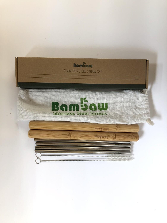 Bambaw Metal Straw Set