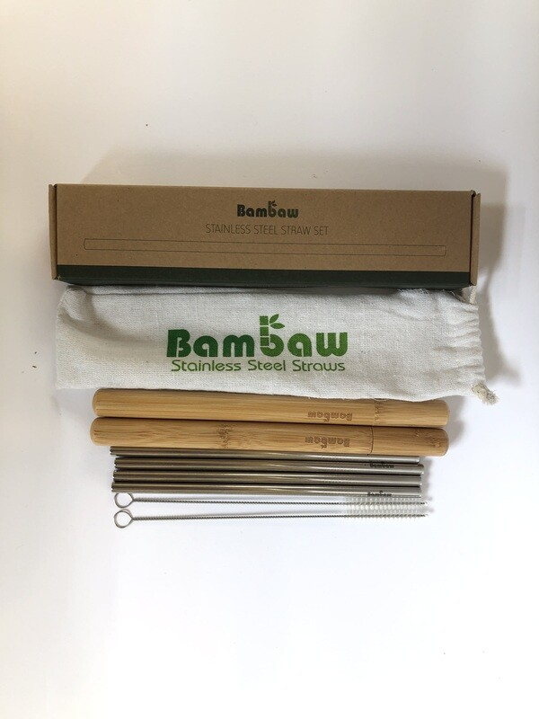 Bambaw Metal Straw Set