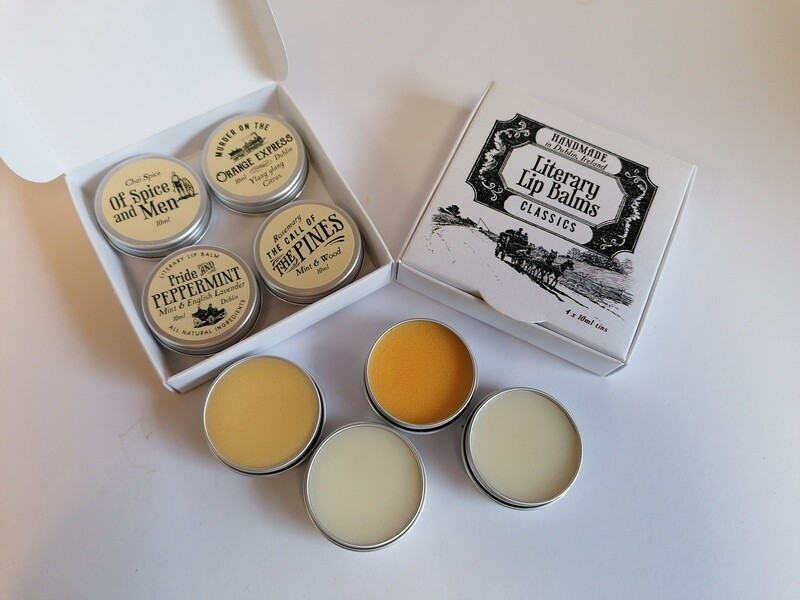 Literary Lip Balms 4pk Gift Set