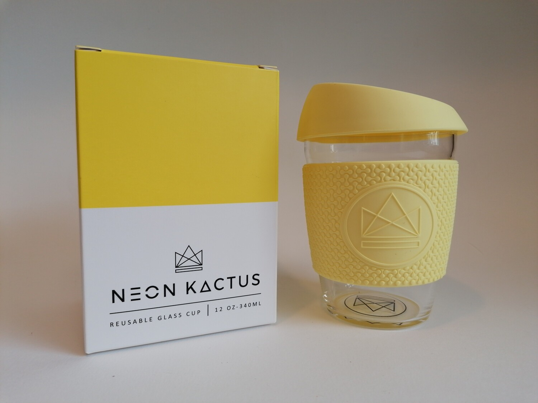 Neon Kactus Yellow Glass Cup