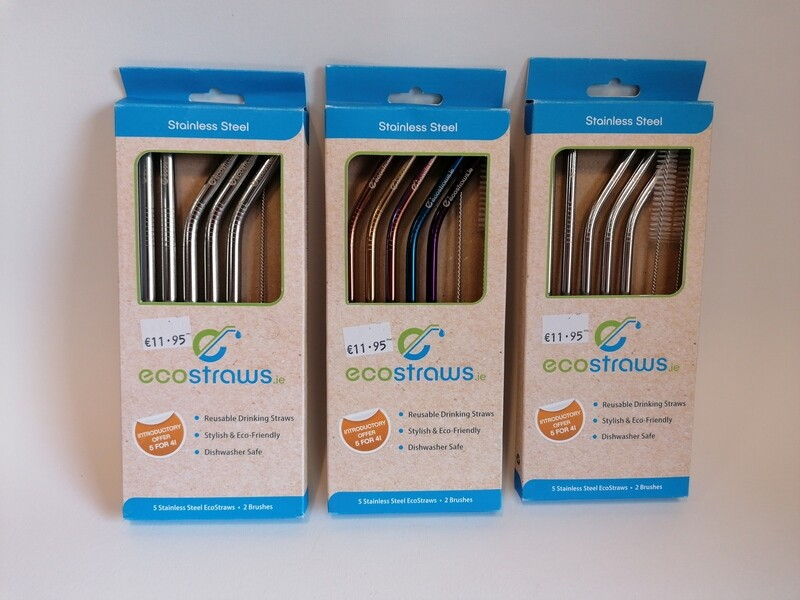 Metal Straws 5 Pack