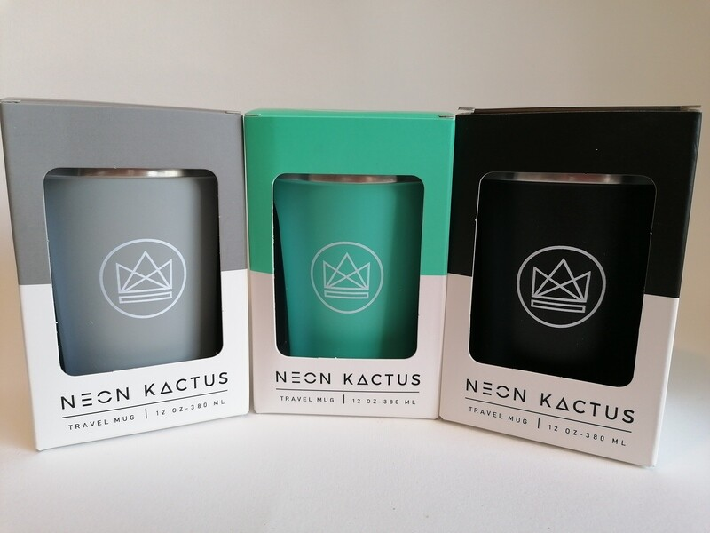 Neon Kactus Insulated Metal Travel Mug 12oz