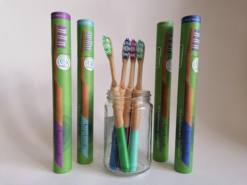 Bambooth Adults Toothbrush Medium Bristles