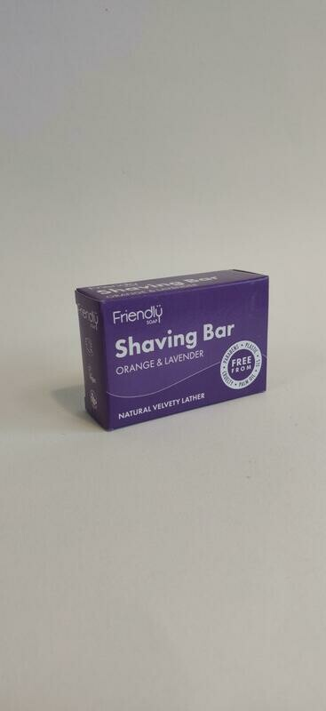 Friendly Soap Shaving Bar Orange and Lavender