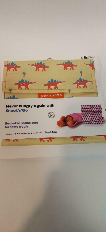 Roll'Eat Reusable snack bag Dinosaur