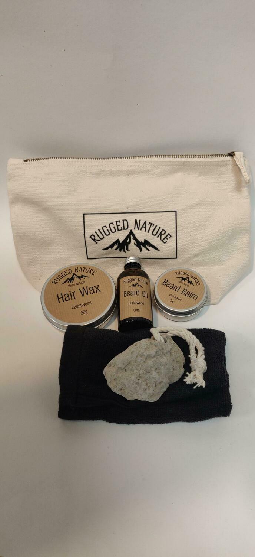 Rugged Nature Mens grooming Gift set bag