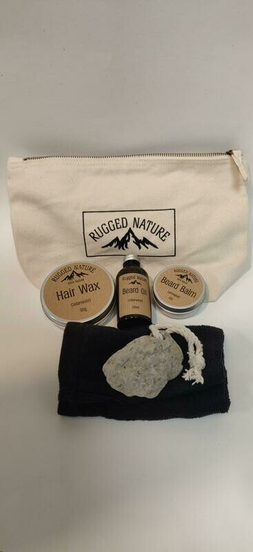 Rugged Nature Mens grooming Gift set bag