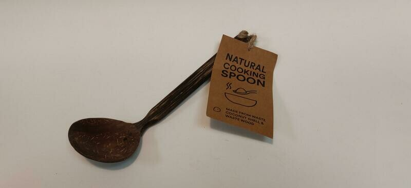 Natural cooking spoon