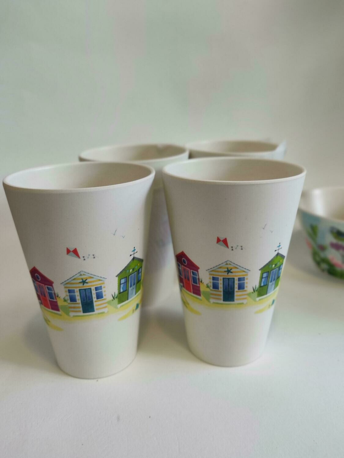Bambootique Set of 4 Bamboo Cups