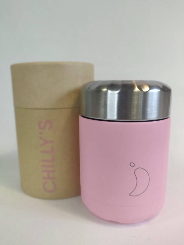 Chillys food pot Pastel Pink LTD edition 300ml
