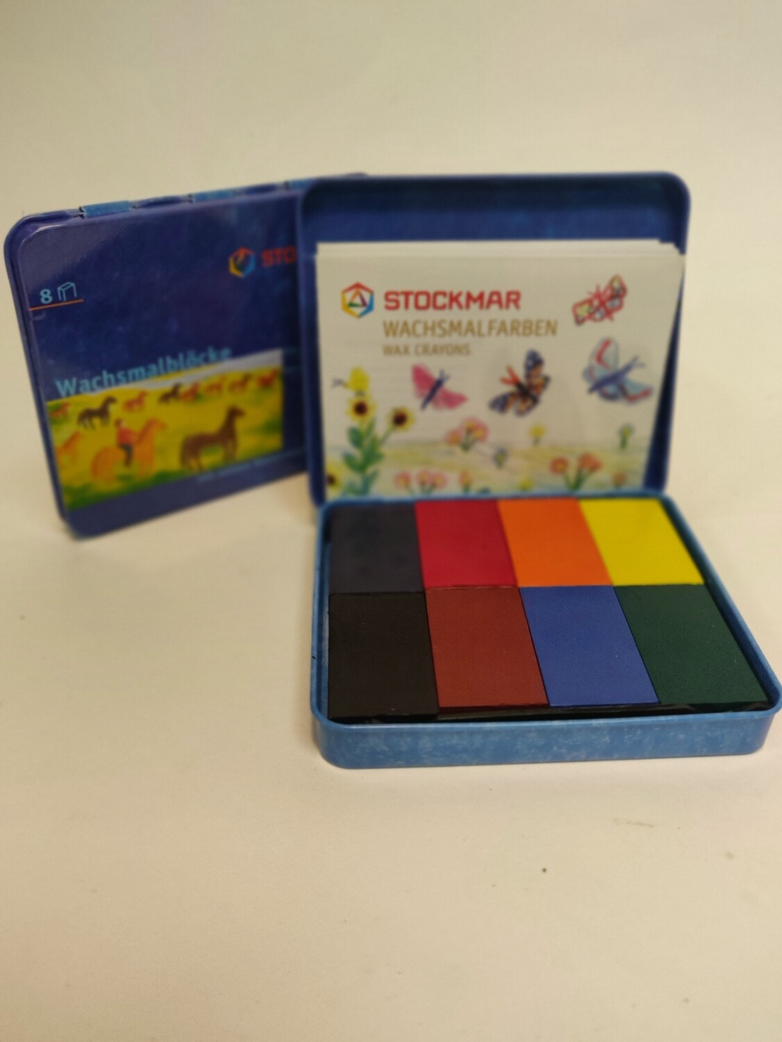 Stockmar Wax blocks in a tin 8 colours