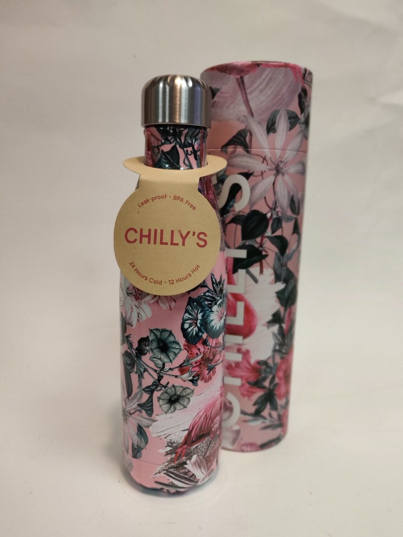Chillys Flamingo Bottle 500ml