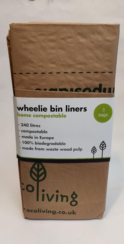 Ecoliving Wheelie Bin Liners 3s