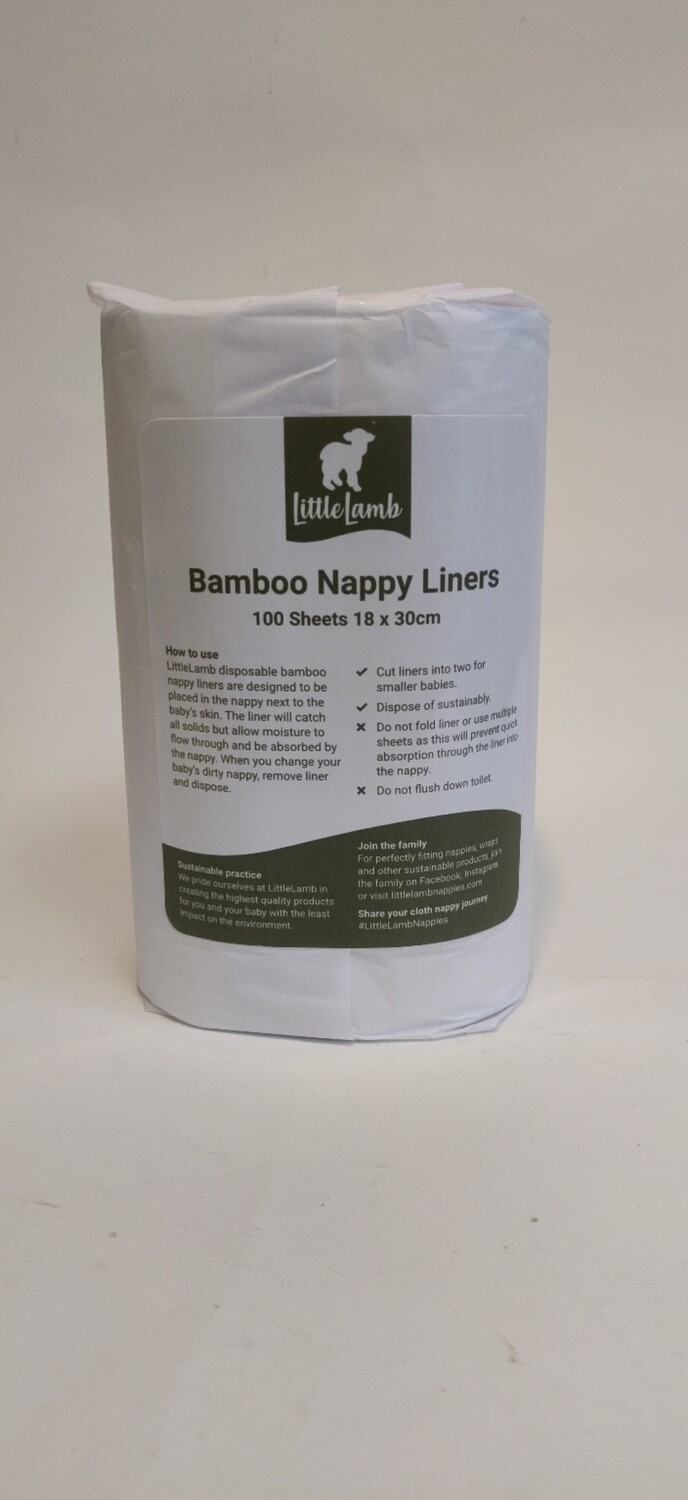 Little Lamb Bamboo Nappy Liners 100 sheets