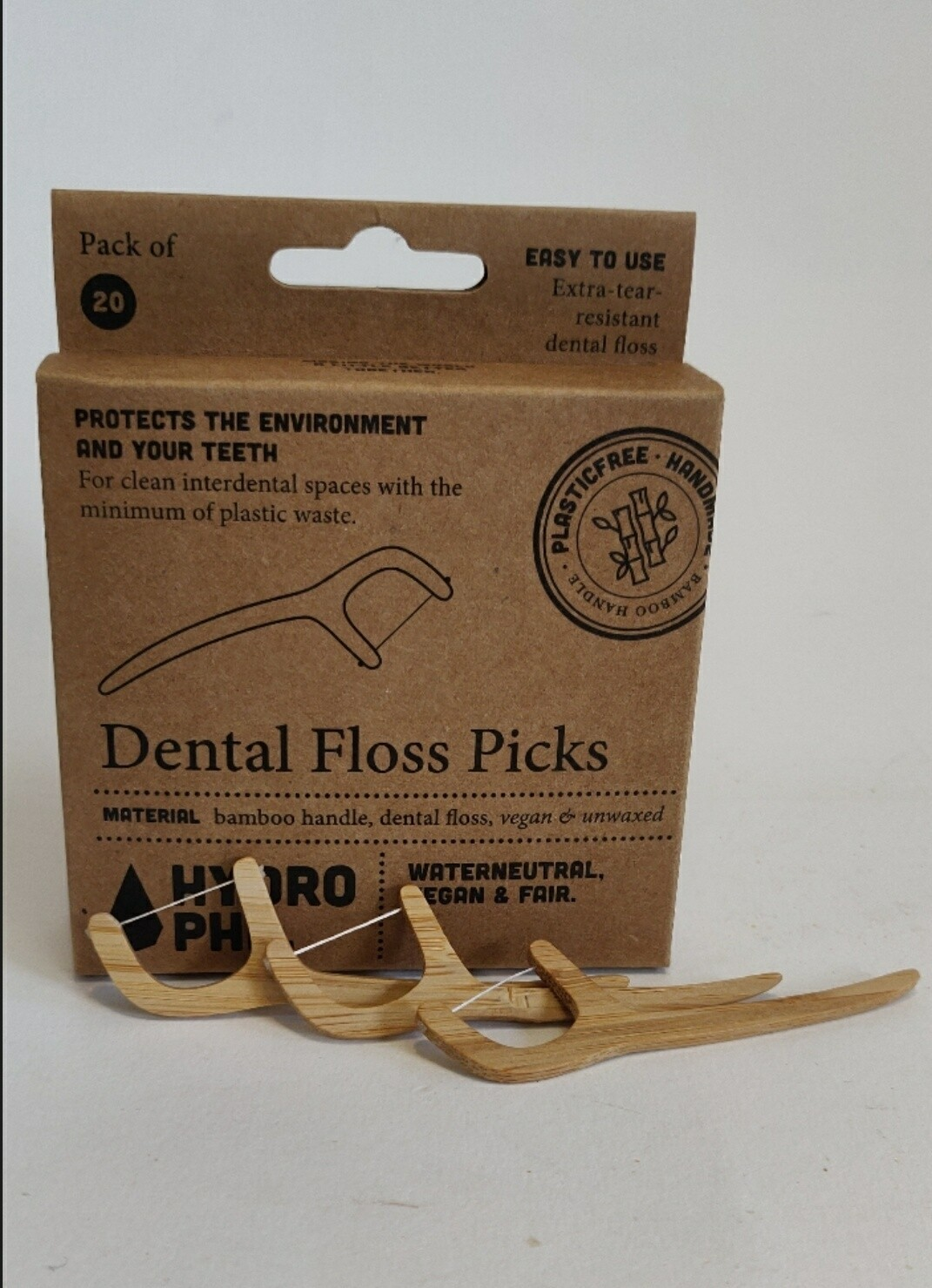 Hydrophil Bamboo Dental Floss Picks