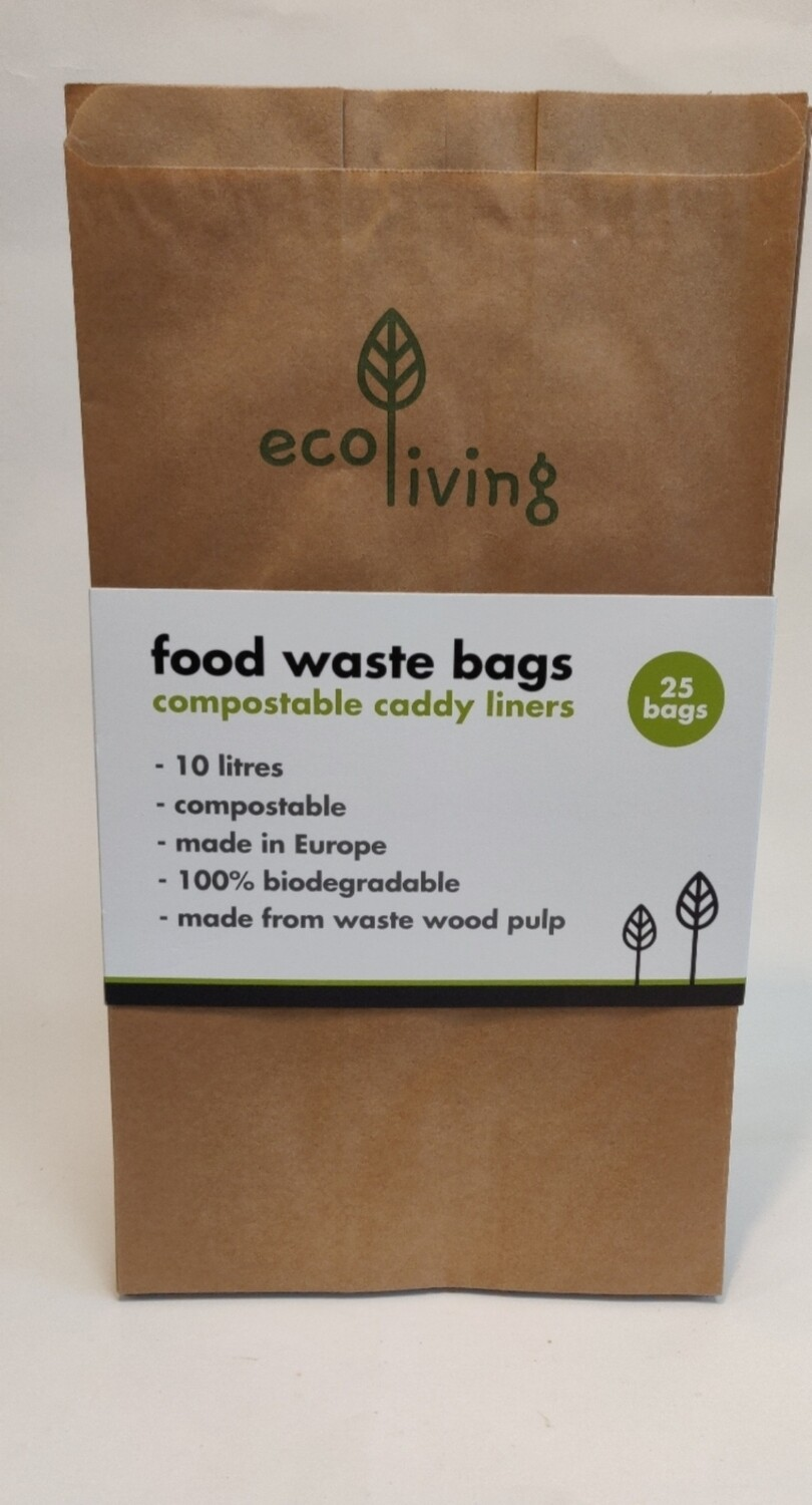 Ecoliving Food Waste Bags 25 bags