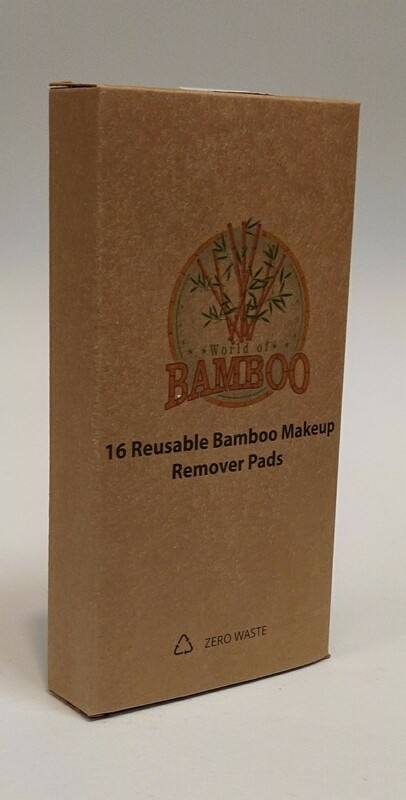 Bamboo 16 Reusable bamboo make up remover pads