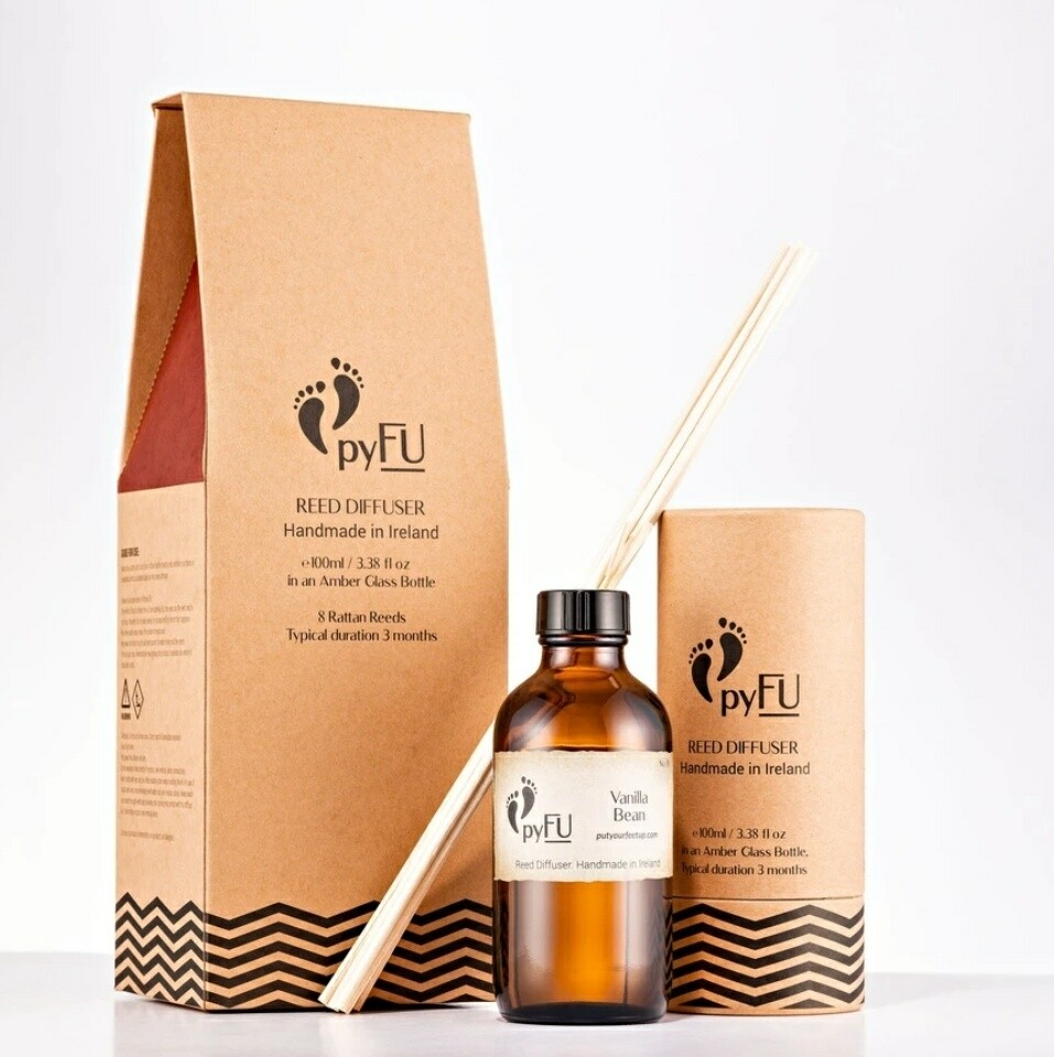 Put Your Feet Up (pyFU) Reed Diffuser Vanilla Bean 100ml