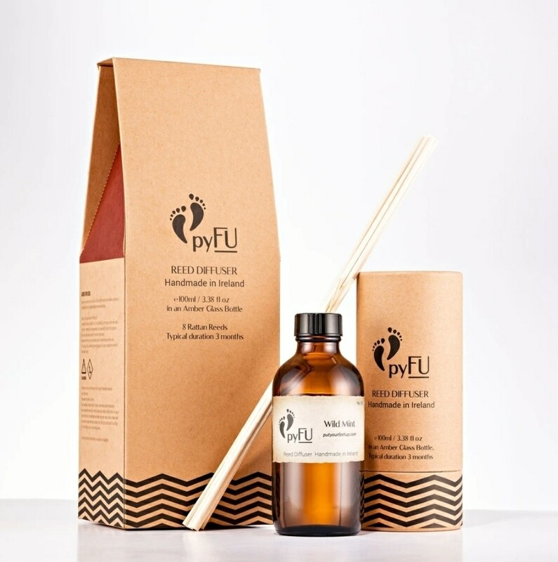 Put Your Feet Up (pyFU) Reed Diffuser Wild Mint 100ml