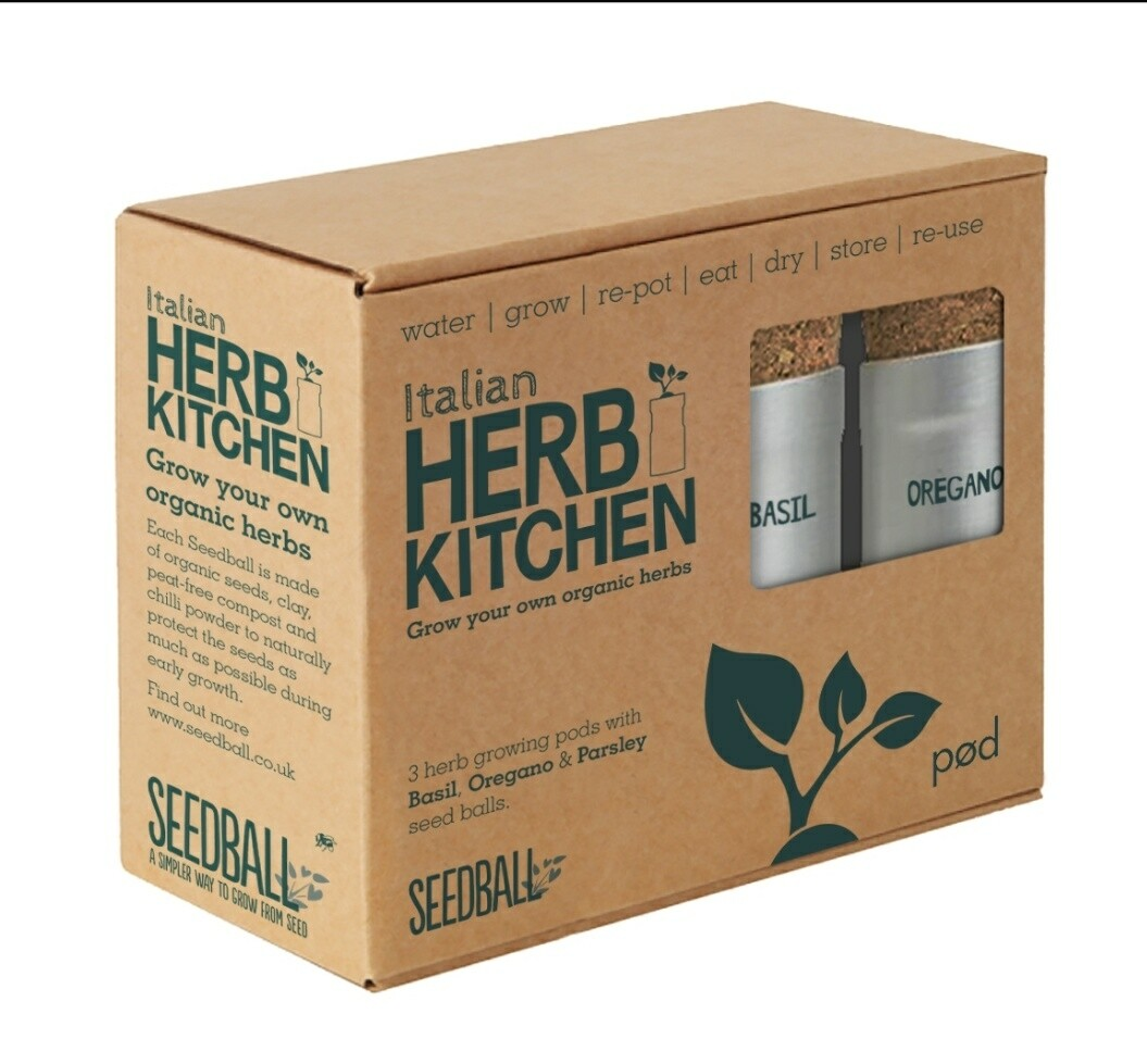 Seedball Italian Herb Kitchen Grow Kit