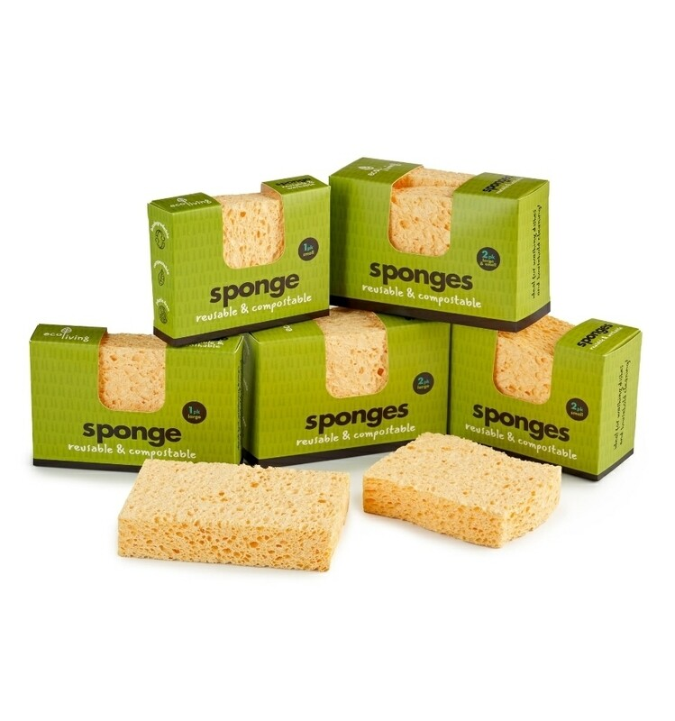 Ecoliving Compostable 2pk Sponge