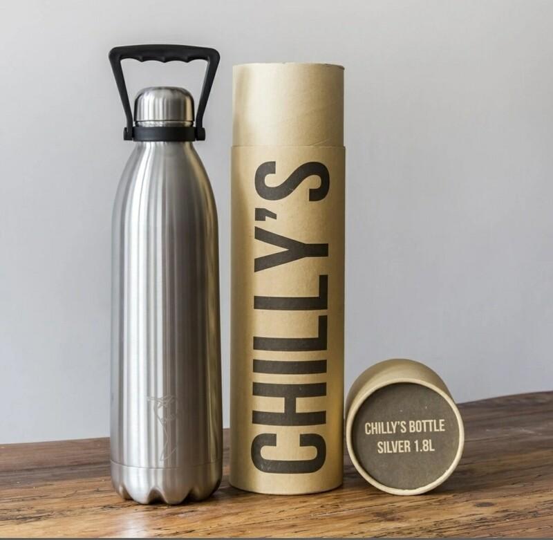 Chillys Stainless Steel Reusable Bottle 1.8ltr