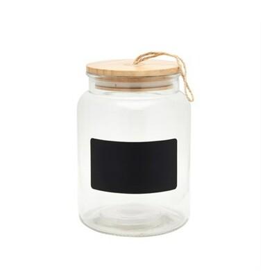 Glass Chalk Board Storage Jar