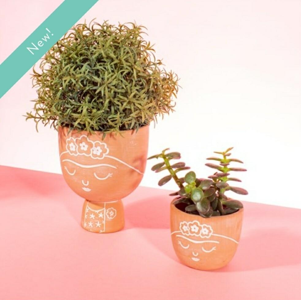Frida Terracotta Mini Planter