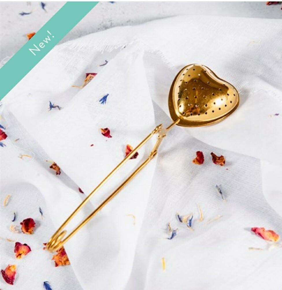 Brass Heart Tea Infuser