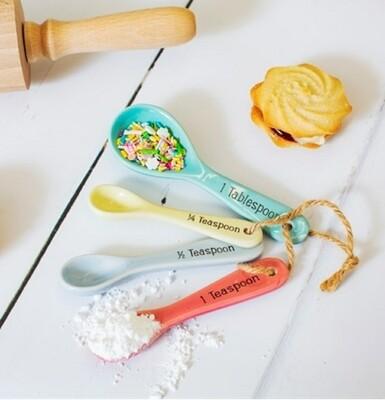 Pastel Measuring Spoons Set of 4
