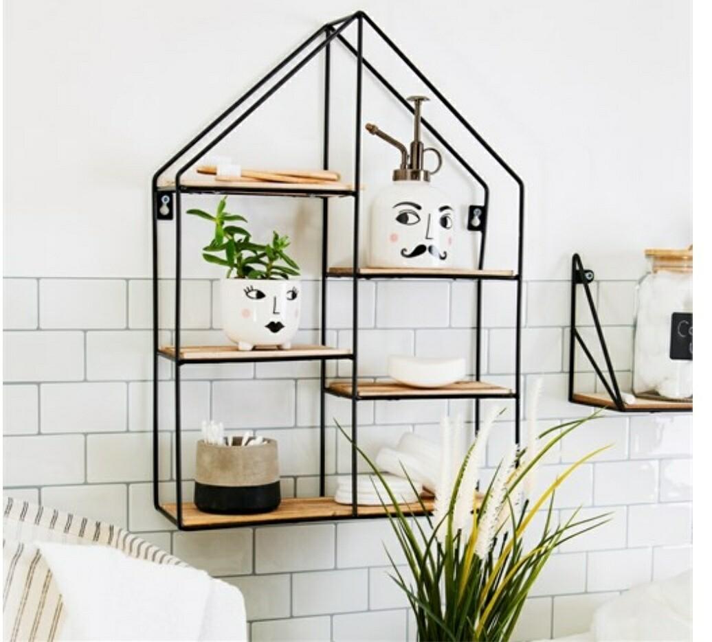 Large Black House shaped Shelf