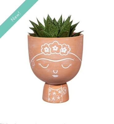 Frida Terracotta Large Planter