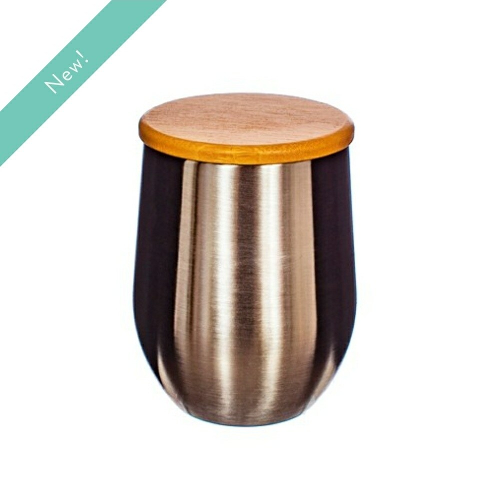 Stainless Steel Cup with Bamboo Lid