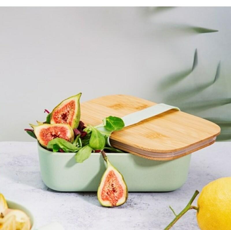 Mint Green Bamboo Lunch Box