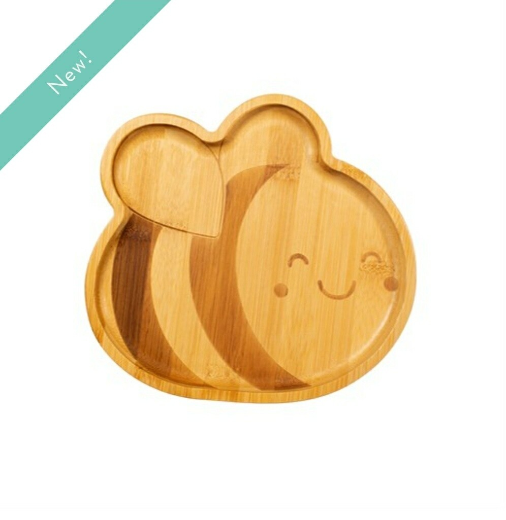 Bee Bamboo Plate