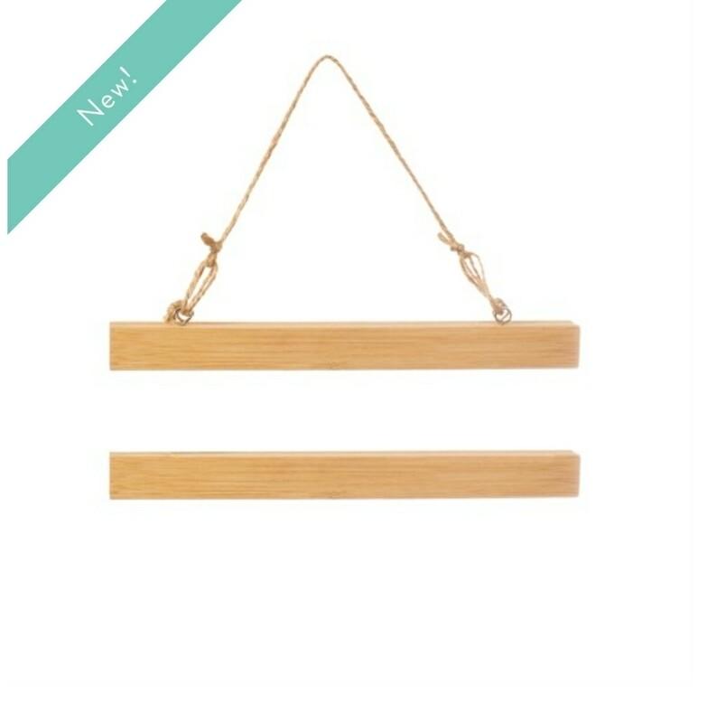 Bamboo Magnetic Poster Hanger