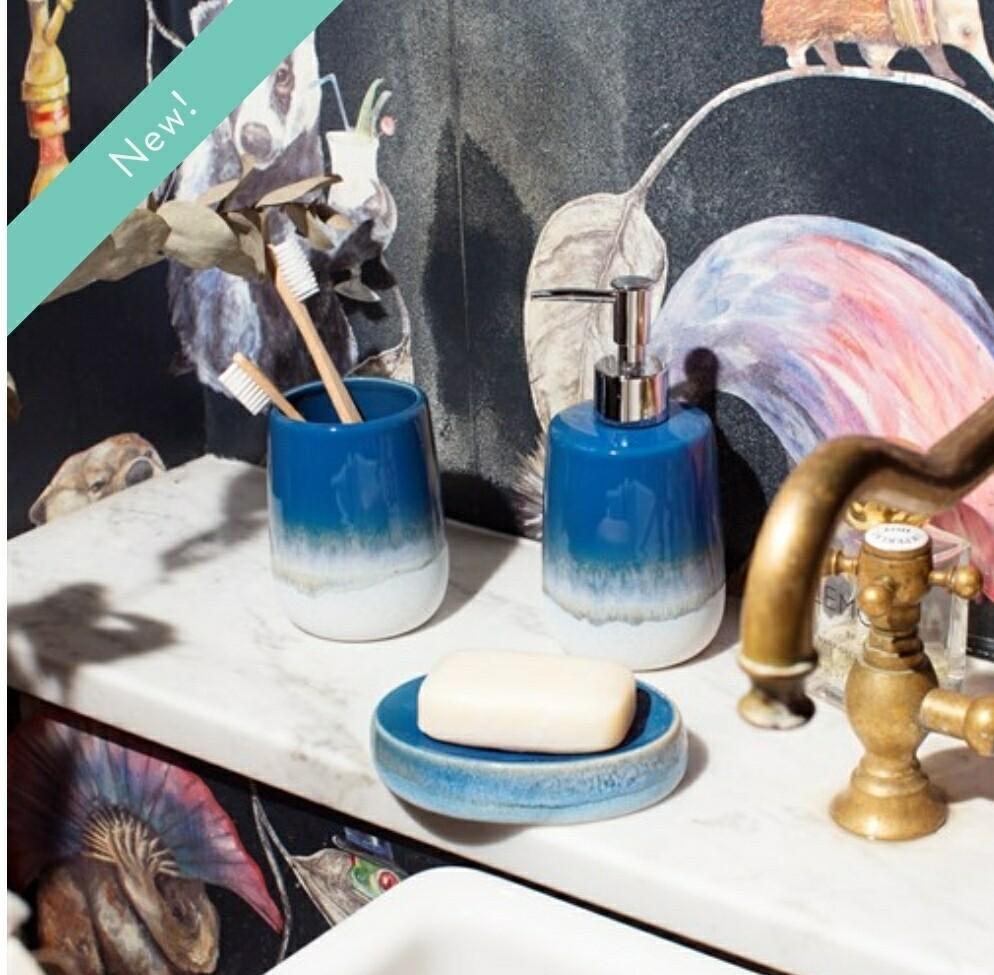 Mojave Glaze Blue Bathroom Set