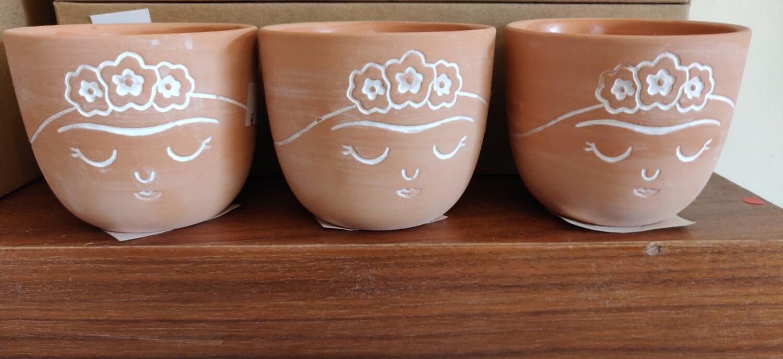 Frida Mini Terracotta Planters 3 pk