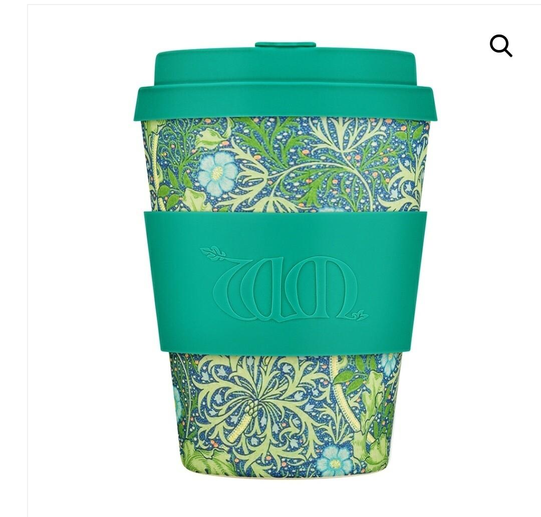 Ecoffee William Morris Seaweed Marine 12oz Coffee Cup