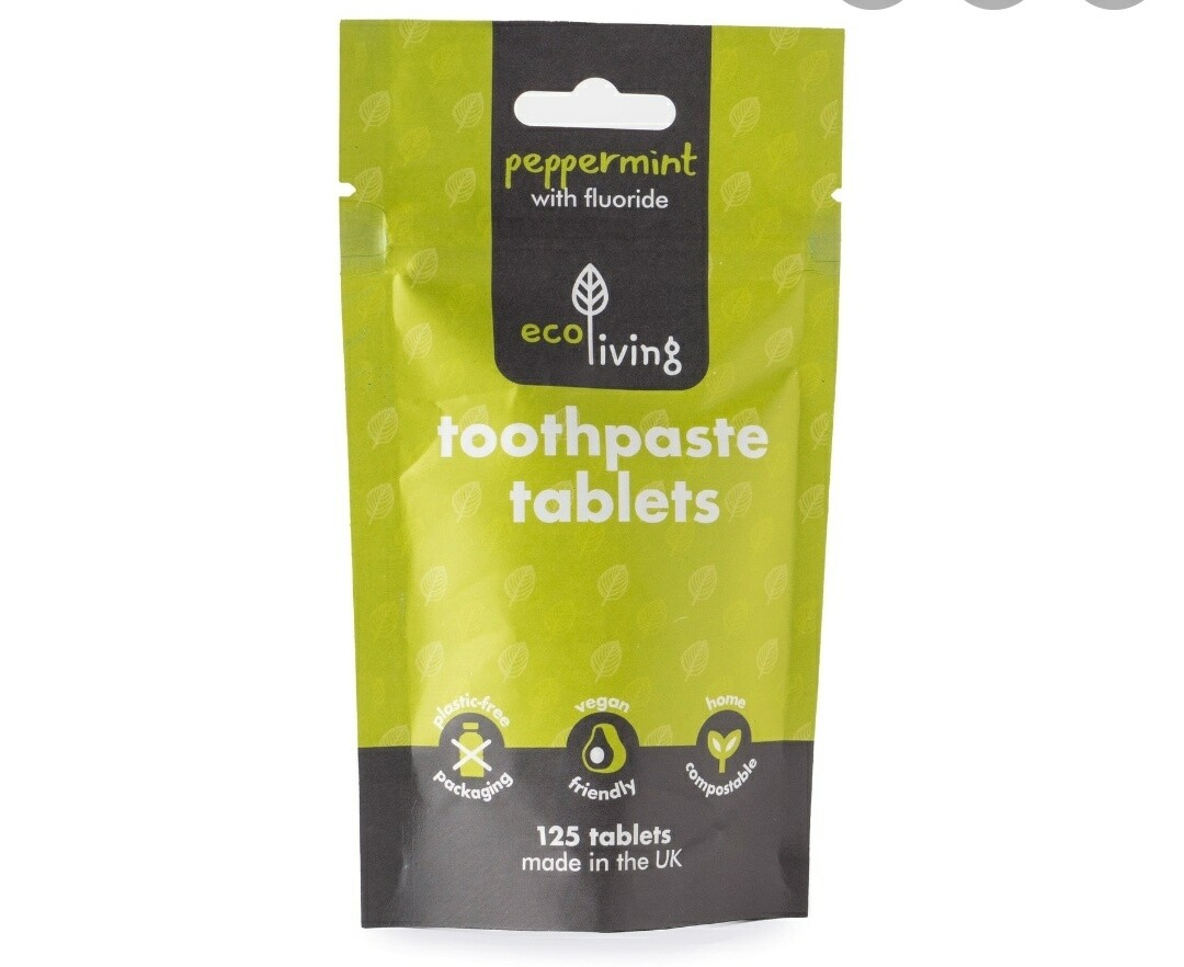 Ecoliving Peppermint Toothpaste Tabs with Flouride 125s